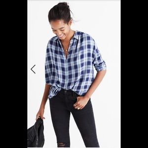 Madewell Central Shirt in Lansford Plaid